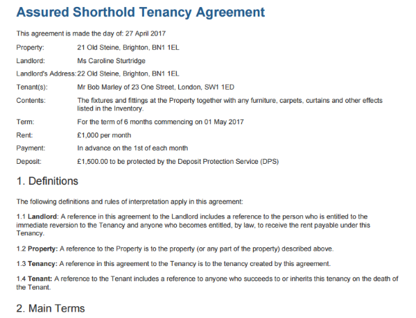 Free tenancy agreement template to edit sign download for Letting agreement template free